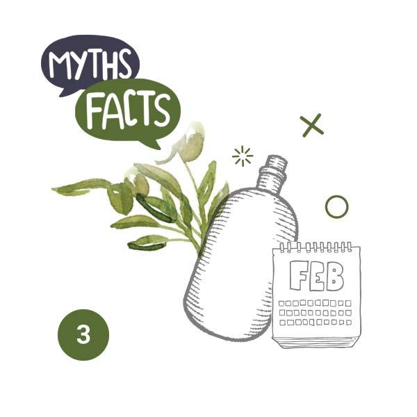 Σε αντίθεση με το κρασί, το ελαιόλαδο χάνει από την ποιότητά του με το χρόνο. Η γνωστή ρήση «το κρασί να 'ναι παλιό μα το λάδι φετινό» επιβεβαιώνει την πραγματικότητα. Αποθηκεύστε λοιπόν το ελαιόλαδο σας σε σκοτεινό και δροσερό (12° με 15° C) μέρος μακριά από άλλες οσμές και καταναλώστε το εντός λίγων μηνών από το άνοιγμα του. – Αλήθεια