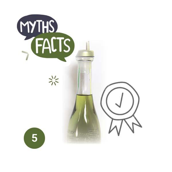 Το έντονο πράσινο χρώμα είναι δείγμα υψηλής ποιότητας ελαιολάδου - Μύθος
