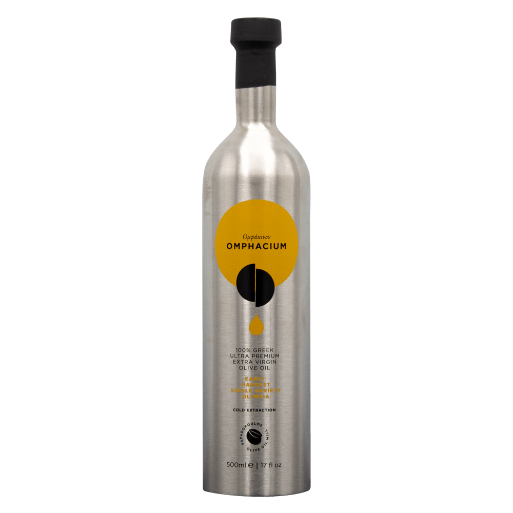 Omphacium-EVOO Papadopoulos Olive oil ελαιόλαδο Ολυμπία